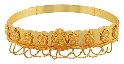 Manav Company Gold Plated Lakshmi Waist Belt Temple Jewellery Hip Chain/ Kamar Bandh / Belly Hips Chain For Women (manwo10103)