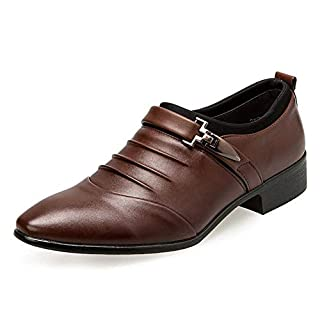 Anzugschuhe Herren Slipper Anzug Schuhe Derby Oxford Lederschuhe Business Hochzeit Männer Leder Winter Herrenschuhe Weiß Hellbraun Schwarz 38-48 BR45