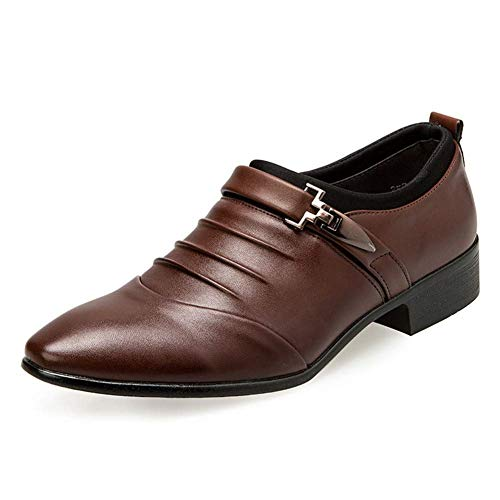 Zapatos Vestir Hombre Oxford Cuero Derby Traje Casual