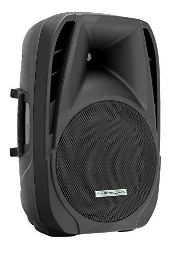 Pronomic PH15A Bühnen- und Konzertlautsprecher Aktiv PA-Lautsprecher Aktive ABS PA-Box, 15 Zoll, 38 cm, 350W) schwarz