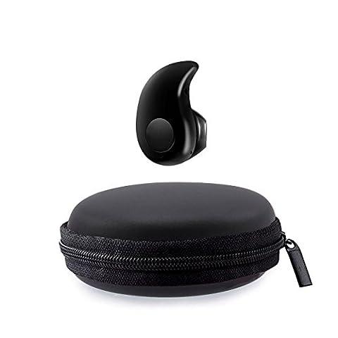 Magicmoon Mini S530 Kleinster 4.0 Stereo Bluetooth Earbuds Invisible Leichte drahtloser Kopfhörer Sport Kopfhörer Universal-Kopfhörer mit Mikrofon für iPhone Samsung Sony HTC LG Tablets Rauschunterdrückung (Schwarz)