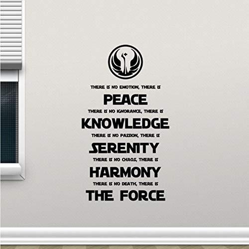 Cczxfcc Star Wars Wand Aufkleber Jedi Code Vinyl Wandaufkleber Home Wohnzimmer Dekoration Neue Design Film Poster Beliebte Zitat Aufkleber 42 X 75 Cm
