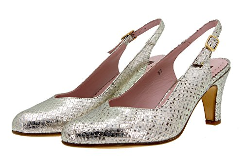 Chaussure femme confort en cuir Piesanto 8210 escarpin confortables amples Platino