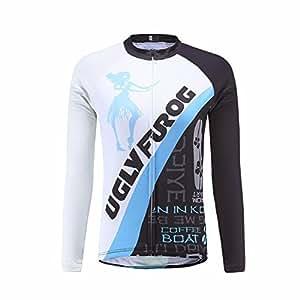 UGLYFROG #01 Damen Radsport Winter Fleece Trikots Lange Ärmel Cycling Clothes