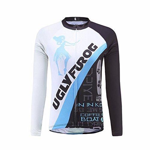 Uglyfrog #21 2017 Donna Ciclismo Magliette Abbigliamento da Ciclismo Classico retrò a Maniche Lunghe Primavera del Manicotto Lungo Jersey
