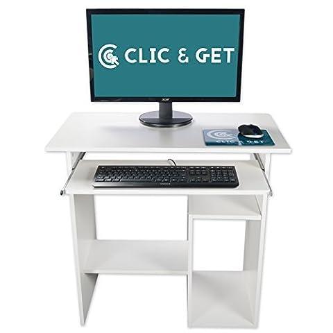 Computertisch PC Tisch Schreibtisch Computerschreibtisch Bürotisch Arbeitstisch Tristan - Weiß