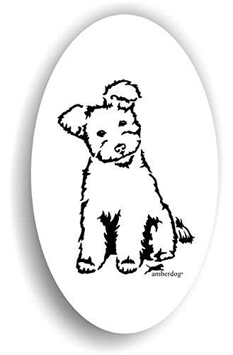 Hunde Pumi Sticker Auto Aufkleber Art.ST0250 Autoaufkleber Aufkleber Wohnmobil Wohnwagen amberdog