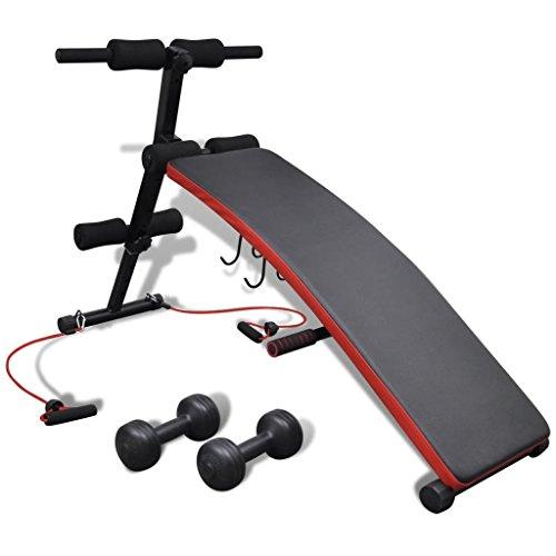 Verstellbare Multifunktions-Trainingsbank mit 3 kg Hanteln Sportartikel Fitness Trainingsbänke