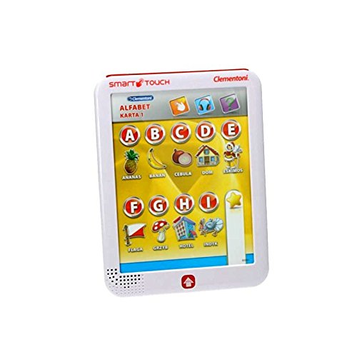 Clementoni Kindertablet Touchpad Polnisch Lernspiel Lernspielzeug Rätsel Fragen Funktionsspiel Lerncomputer Tablet Pad