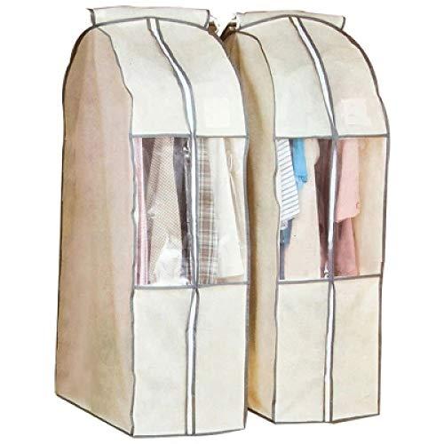 Grea giacca a polvere tridimensionale cappotto vestiti sacchetto appeso borsa vestito sacchetto vestiti sacchetto di polvere vestiti copertura antipolvere copertura-beige, 60 * 135 * 35 cm