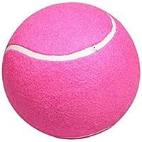 Pelota de Tenis Inflable de 8 Pulgadas y 9,5 Pulgadas, Gran Firma de Tenis, Rosa roja, Pelota de Tenis de Franela para niños, Rosa roja BCVBFGCXVB