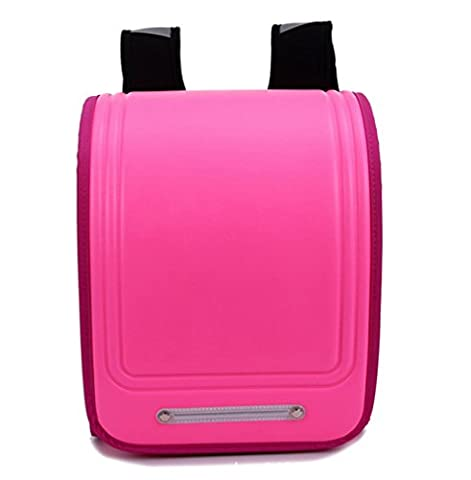 YAAGLE Children Kid Backpack PU Classical High Capacity Bag For Boys and Girls,pink