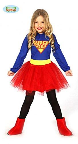 Costume vestito Supergirl supereroe bambina taglia 7/9 anni