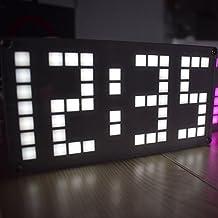 Anself - DIY Set de Reloj Digital de LED Pantalla Táctil de Brillo Ajustable, Juego de Mano Creativo para Tiempo/Fecha/Temperatura/Letras