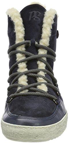 Paul Green Damen Ankle Boots Hohe Sneaker Blau (Ocean space)