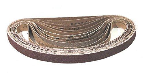 96 Stück Gewebe-Schleifbänder – 13 x 451 mm – Körnung je 16 x Korn 40, Korn 60, Korn 80, Korn 120, Korn 180, Korn 240 / Schleifbänder / Schleifpapier / Gewebe-Schleifbänder (Mixed Korn)