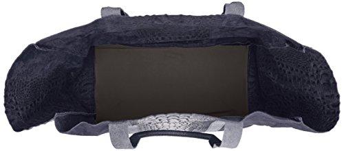 Chicca Borse 80043, Borsa a Mano Donna, 62 x 36 x 21 cm (W x H x L) Blu