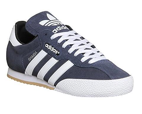 adidas Herren Sam Super Suede Turnschuhe, Azul / Blanco (Navy / Runbla), 42 EU