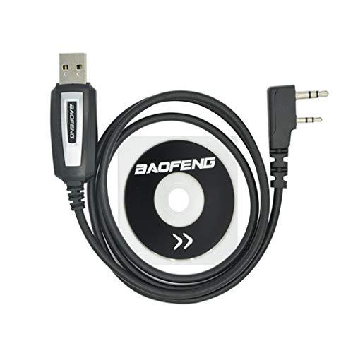 Morza USB Programmierkabel Ersatz für Baofeng UV-5R Treiber-CD Software UV-82 BF-888S Zubehör