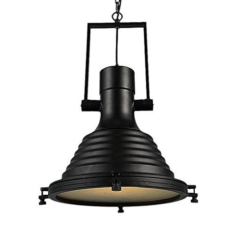 Industrielle Deckenleuchte, SUN RUN Kreativ Einstellbare Retro Leuchte Kronleuchter Vintage Metall Pendelleuchte mit lackiertem Finish für Esszimmer Küche, Schwarz