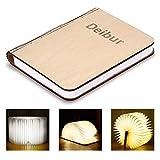 Libro Luz LED Lámpara Forma de Libro Plegable Recargable USB Book Lamp con Batería de Litio 800mAh Magnético Papel DuPont Lámpara Libro Decorativa Lámpara de Noche