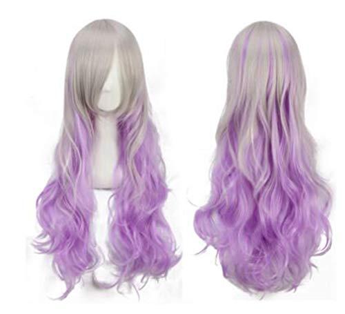 Perücken 70cm Frauen Haar Wi Lange Große Wellenförmige Haar Hitzebeständige Multi Farbe Perücke für Cosplay/Halloween Party Kostüm