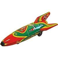 CAPRILO Juguete Decorativo Infantil de Hojalata Jet MP-1 Rocket  Réplicas de Vehículos de Cuerda. Juguetes y Juegos de Colección. Regalos Originales para Navidad y Reyes. Decoración Clásica.