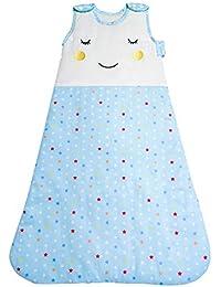 66f44d20423 Stewys Baby Sleeping Bag 2.5 tog Comfortable Unisex Swaddle Sleep Sack  starry blue 100% Cotton
