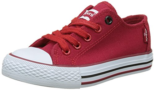 Levi's Trucker Low Lace, Baskets Basses Garçon Rouge (Red)