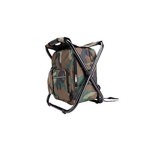 Tentock Sac à dos étanche tout-en-un sac à dos avec fonction de chaise pliante et sac isotherme pour alpinisme, randonnée, voyage, camouflage
