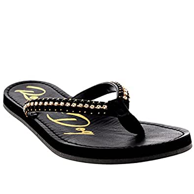23e974421 Womens Rocket Dog Portia You Fancy Slip On Toe Post Flip Flops Sandals -  Black - 8  Amazon.co.uk  Shoes   Bags