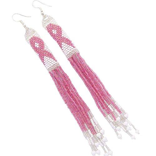 La Viva Charming Mehrfarbig Seed Perlen Kronleuchter Ohrringe Combo Pack von 3 -