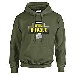 Taurus Fortnite Olive Army Battle Royal Dog Tag Hoodie Xbox PS4