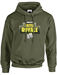 Taurus Fortnite Olive Army Battle Royal Dog Tag Hoodie Xbox PS4
