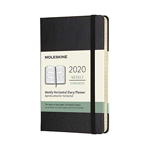 Moleskine Wochenkalender, Taschenkalender, 12 Monate, 2020, Pocket, A6, Horizontal, Hard Cover, Schwarz (Amazon-pocket-kalender)