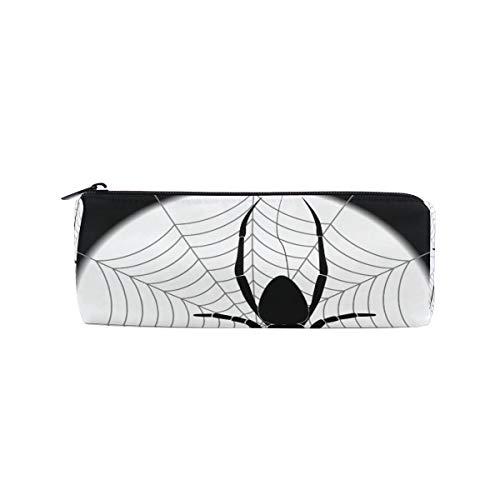 Bleistiftbeutel federmäppchen mond nacht tier spinne insekt halloween make-up kosmetische runde für mädchen jungen reiseschule