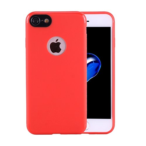 GHC Cases & Covers, Für iPhone 7 Colorized Soft TPU Schutzhülle ( Color : Pink ) Red