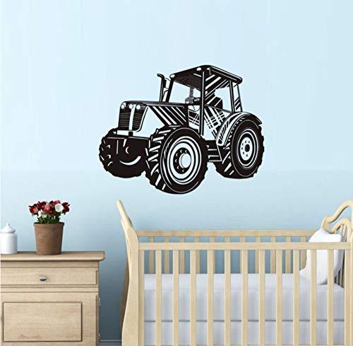 Lzyx Traktor Wandaufkleber Für Kinderzimmer Schlafzimmer Abnehmbare Vinyl Wasserdichte Wandkunst Aufkleber Tapete Dekoration Zubehör59X75 Cm