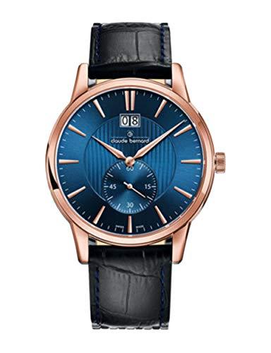 Claude Bernard by Edox sofisticato Classics orologio da uomo 64005.37r.Buir Swiss