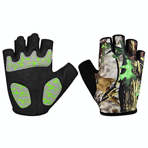 MISS&YG Fahrhandschuhe atmungsaktive Rutschfeste Bequeme Straße Bergreitens Halfinger Handschuhe,Camouflage,M