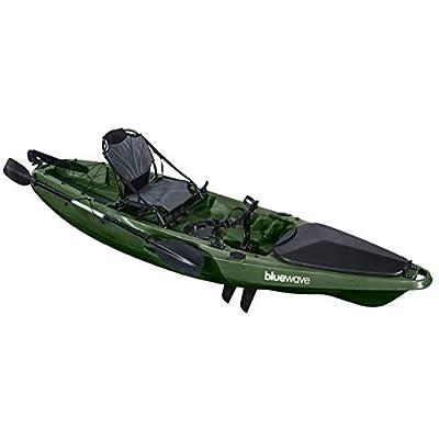 Bluewave Predator Fishing Kayak + Chair, Paddle, Rod Holders & More