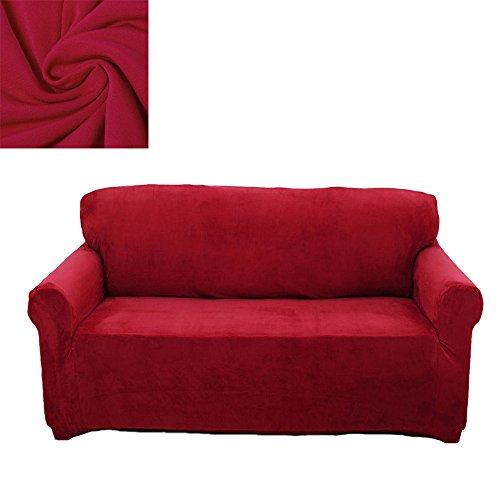 2 Sizter Sofabezug Sesselbezug Sofahussen Sofaabdeckung Elastisch Verfügbar Rot