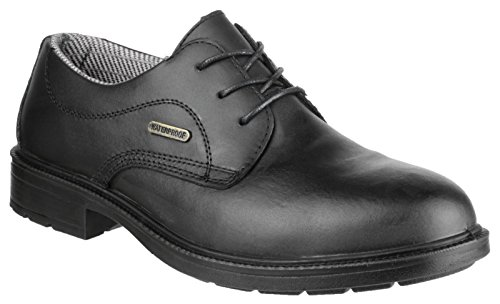 Amblers Safety Mens FS62 Leather Waterproof Safety Shoes Black