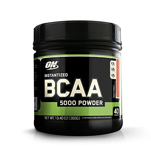 Optimum Nutrition (ON) Instantized BCAA 5000 mg Powder - 40 Servings, 380 g (Fruit Punch),