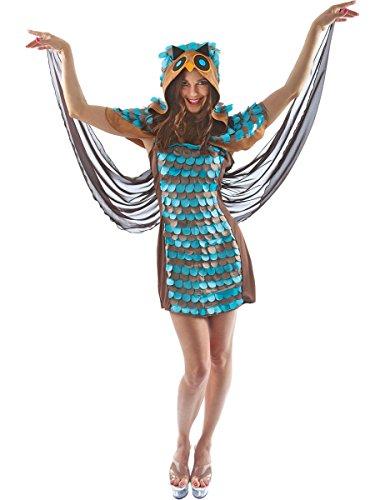 Erwachsenen Tier Vogel Eule Sexy Fasching Karneval Verkleidung Kostüm Extra Large