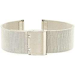 Eichmüller Milanese M19 12 mm Stainless Steel Bracelet Watch Strap with Folding Clasp