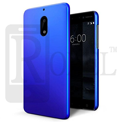 Roxel Blue RubberRized Hard Back Cover for Nokia 9 - Nokia 9 Back Cover
