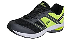 Campus Mens Black Synthetic Running Shoes ( 3G-379-DGRY-BLK-FGRN-8 ) - 8