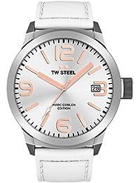 TW Steel Marc Coblen Edition mit Lederband 50 MM Silver/White TWMC44