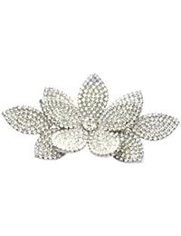 Broche de la flor de cristal de Swarovski ramillete victoriano (tono plateado) / rodio Swarovski Crystal elegante broche / flor broches de plata / pernos de colección de vestidos y bolsos